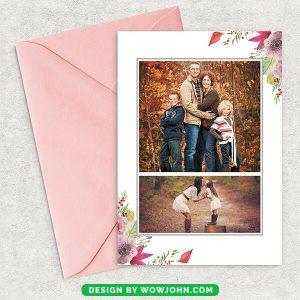 Free Christmas Mini Photo Session Card Psd Template