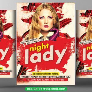 Free Ladies Night Party Flyer Psd Template