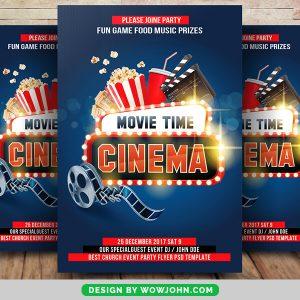 Cinema Movie Time Free Psd Flyer Template