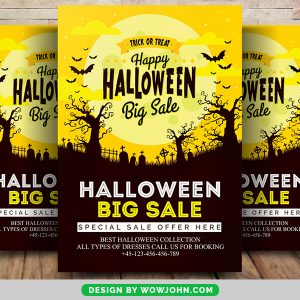 Free 2021 Halloween Party Flyer Psd Template