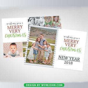 Merry Christmas Mini Photo Session Card Psd Template
