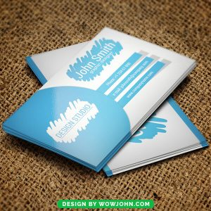 Blue Color Free Business Card Psd Template