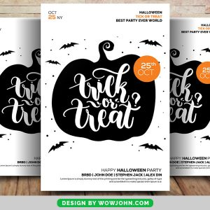 Free Trick Or Treat 2021 Flyer Psd Template