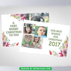Free Christmas Mini Session Photo Card Psd Template