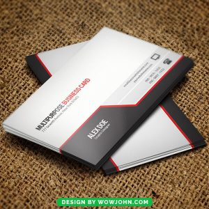 Black and White Free Business Card Psd Template