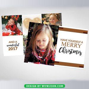 Free Photo Christmas Greeting Card Psd Template