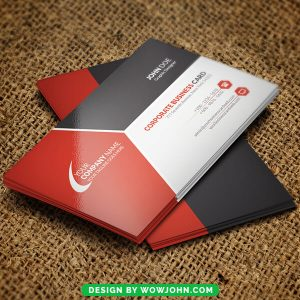 Red White Free Business Card Psd Template