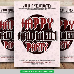 Free Vintage Halloween Party Flyer Psd Template
