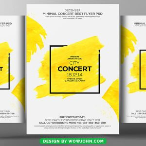 Minimal City Concert Flyer Psd Template