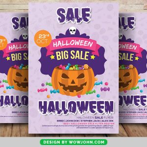 Free Scary Halloween Party Flyer Psd Template