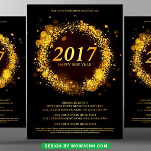 Free 2022 New Year Flyer Psd Template