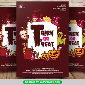 Free Halloween Club Party Event Flyer Psd Template
