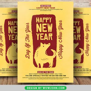 Free Happy Chinese New Year 2022 Flyer Psd Template