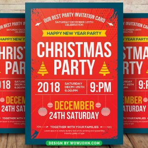 Free 2022 Christmas Party Flyer Psd Template