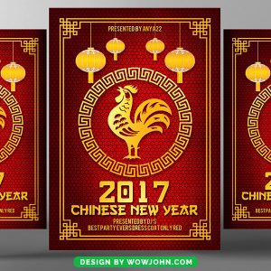 Free 2022 Chinese New Year Flyer Psd Template