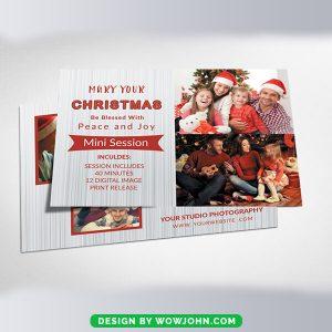 Free Modern Christmas Greeting Card Psd Template