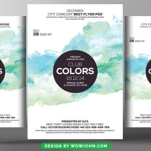 Free Minimal Colors Flyer Psd Template