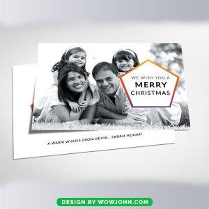 Free Minimal Christmas Greeting Card Psd Template