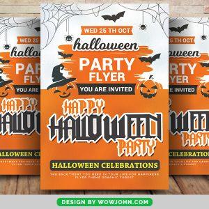 Free Halloween Pumpkin Party Flyer Psd Template