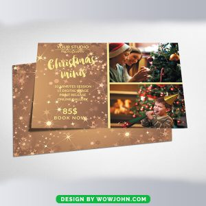 Free Santa Christmas Greeting Card Psd Template
