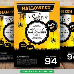 Free 2021 Halloween Sale Flyer Psd Template