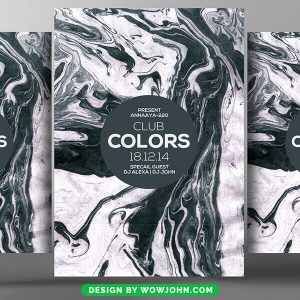 Free Electro Colors Flyer Psd Template