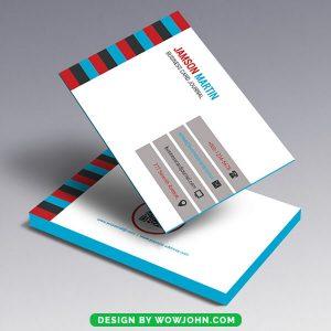 Multi Color Business Card Free Psd Template