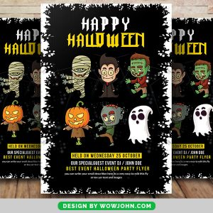 Free 2022 Halloween Party Flyer Psd Template