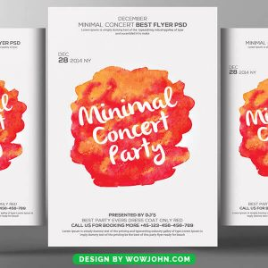 Free Minimal Concert Party Flyer Psd Template