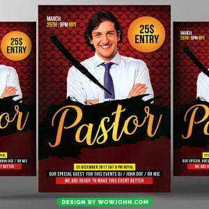 Free Pastor Anniversary Church Flyer Psd Template