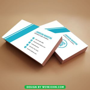 Blue Abstract Business Card Free Psd Template