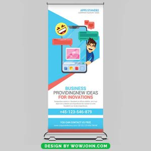 Free Corporate Outdoor Roll Up Banner PSD