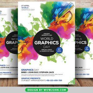 Free Graphic Designer PSD Flyer Template