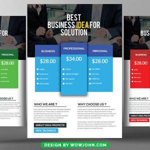 Free Modern Business Flyer Psd Template