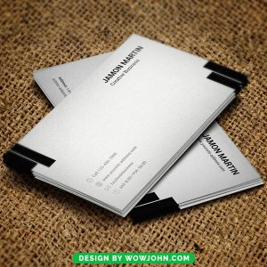 Black White Business Card Free Psd Template