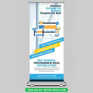 Free Accountancy Firm Roll Up Banner Psd Template