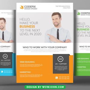 Free IT Business Flyer Psd Template