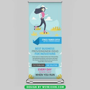 Free IT Company Roll Up Banner Psd Template