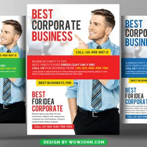 Free Software Company Business Flyer Psd Template