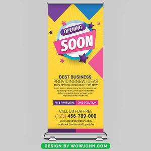 Free Products Roll Up Banner Psd Template
