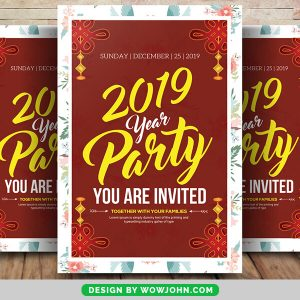 Free Watercolor New Year 2022 Flyer Psd Template