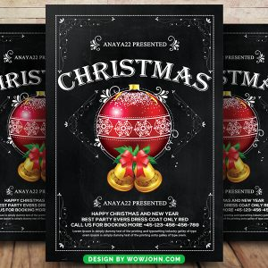 Free 2022 Xmas Party Flyer Psd Template