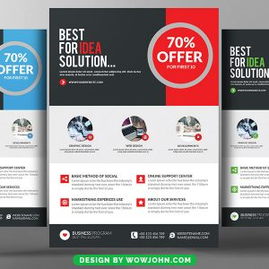 Free Modern Software Company Flyer Psd Template