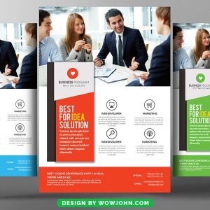 Free Moving Company Flyer Psd Template Design