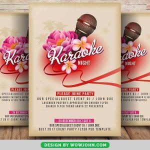 Free Karaoke Night Party Flyer PSD Template