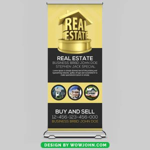 Free Open House Roll Up Banner Psd Template