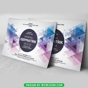 Abstract Geometric Party Flyer PSD Template