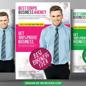Free Creative Business Conference Flyer Psd Template