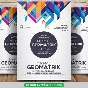 Free Abstract Party Flyer PSD Template