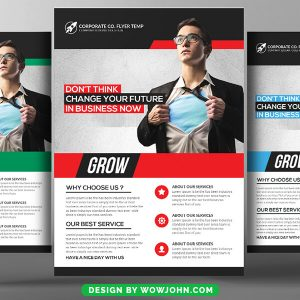 Free Fitness Coaching Flyer Psd Template